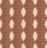 Retro fold brown wavy hexagons Royalty Free Stock Images