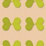 Retro fold green butterflies Stock Photo
