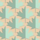 Retro fold green maple leaves Royalty Free Stock Image