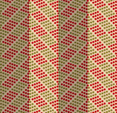 Retro fold green and red dotted chevron Royalty Free Stock Photography