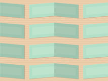Retro fold light green rectangles Royalty Free Stock Images