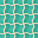 Retro fold light green striped wavy squares Stock Images