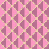 Retro fold pink rounded four foils Royalty Free Stock Photography