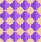 Retro fold purple striped bulbs Royalty Free Stock Photos
