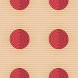 Retro fold red circles on stripes Royalty Free Stock Photos
