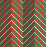 Retro fold red dotted chevron Royalty Free Stock Images