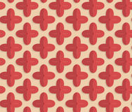 Retro fold red four pedal flowers Stock Photo