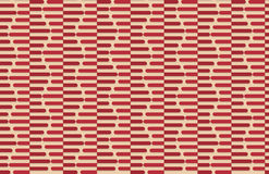 Retro fold red striped hexagons Royalty Free Stock Photography