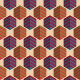 Retro fold striped hexagons Stock Photo