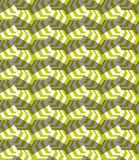 Retro fold striped hexagons turned Royalty Free Stock Image