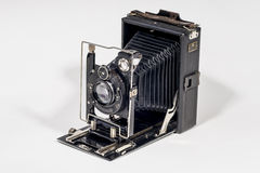 Retro Folding  camera Stock Photos