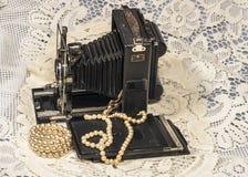 Retro Folding  camera Royalty Free Stock Photography