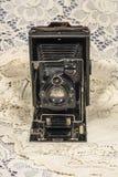 Retro Folding  camera Royalty Free Stock Photo
