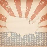 Retro fondo americano Fotografia Stock Libera da Diritti