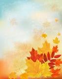 Retro fondo astratto di autunno per la vostra progettazione. illustrazione vettoriale
