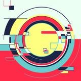 Retro fondo colourful geometrico astratto illustrazione di stock