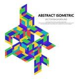 Retro fondo d'annata isometrico geometrico astratto di stile Fotografia Stock Libera da Diritti