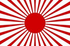 Retro fondo 2 del raggio di vettore del Giappone del sole della carta da parati del fondo dell'illustrazione rossa di riserva di  royalty illustrazione gratis