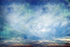Retro fondo della natura del cielo Fotografia Stock Libera da Diritti