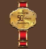 Retro fondo di anniversario, 50 anni Fotografie Stock Libere da Diritti