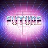 retro fondo di fantascienza 80s con il segnaposto illustrazione di stock