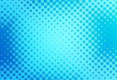 Retro fondo di Pop art blu con stile comico dei punti, illu di vettore illustrazione vettoriale