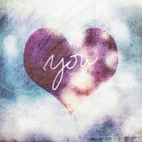 Retro fondo di simbolo del cuore di amore di lerciume Fotografia Stock