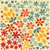 Retro fondo floreale astratto della stampa di colori Immagine Stock
