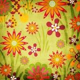Retro fondo floreale di stile illustrazione di stock