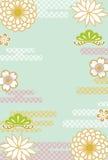 Retro fondo floreale giapponese royalty illustrazione gratis