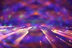 Retro fondo futuristico di retro stile di 80 ` s Digital o superficie cyber luci al neon e modello geometrico fotografie stock