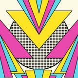Retro fondo geometrico del modello 80s royalty illustrazione gratis