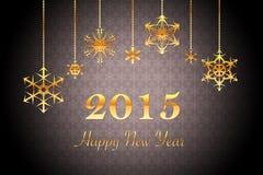Retro fondo nero lussuoso del nuovo anno Fotografia Stock