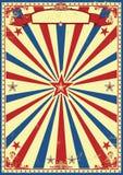 Retro fondo patriottico dei raggi di sole Fotografia Stock