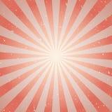 Retro fondo sbiadito di lerciume di luce solare fondo rosso e beige di segnale di riferimento Illustrazione di vettore Sun Fotografia Stock Libera da Diritti