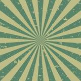Retro fondo sbiadito di lerciume di luce solare fondo verde e beige di segnale di riferimento Illustrazione di vettore Sun Immagini Stock