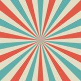 Retro fondo sbiadito di luce solare Fondo rosso, blu, beige pallido di segnale di riferimento Illustrazione di vettore di fantasi Immagini Stock