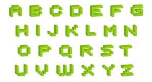 Retro font Stock Image