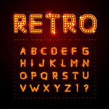 Retro font Royalty Free Stock Images