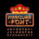 Retro font Stock Photography