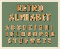 Retro font alphabet Stock Photography