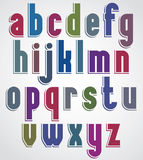 Retro font, bold condensed letters typeface, lowercase set. Royalty Free Stock Image
