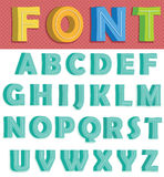 Retro Font Royalty Free Stock Photo