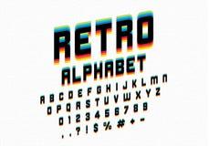 Retro font royalty free illustration