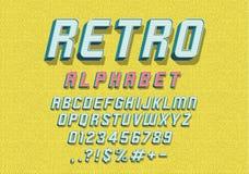 Retro font stock illustration