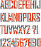 Retro font Stock Photo