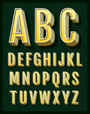 Retro font. Vintage alphabet Royalty Free Stock Photos
