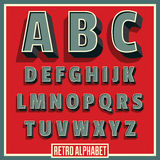 Retro font. Vintage alphabet