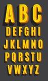 Retro font. Vintage alphabet. Retro type font. Vintage alphabet Stock Image