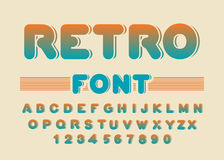 Retro font. Vintage rounded alphabet. Disco alphabet. Letters fr Royalty Free Stock Photography